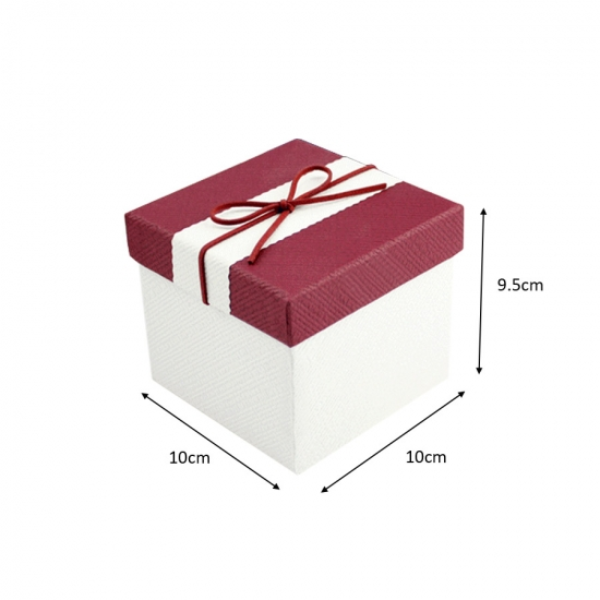 Big square paper Christmas gift box