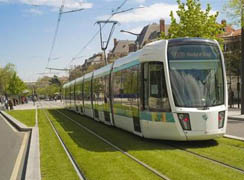The first modern tram demonstration line is officially opened
